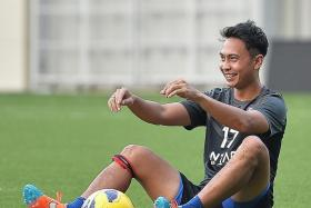 SEIZING HIS CHANCE: Shahril Ishak last played for Singapore in a World Cup qualifier in June.