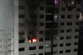 DANGER: About 100 people at Block 688A, Choa Chu Kang Drive had to be evacuated because of the fire.