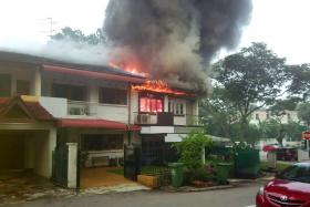 BURNED: It is believed that an air-conditioning unit on the second-storey had short-circuited and caused the fire.