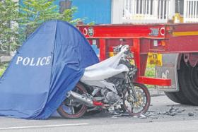 Teenage motorcyclist dies on the spot in this morning's collision.