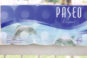 DOLPHINS: The Paseo Elegant four-ply 10-pack.