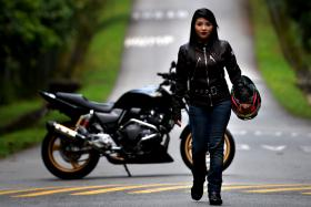 Seen with her Honda CB400 Super 4 Revo, founder of Road Angels Miss Isliani Mohammad Ishak has been riding for over 12 years and shows no signs of slowing down.