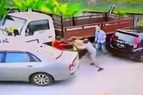 BOTCHED: A group of kidnappers in KL botched an abduction when they bundled the wrong man (above), Mr R. Karunakaran, into their car.