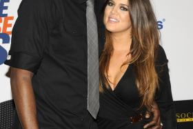 Lamar Odom seen here with wife Khloe Kardashian-Odom at the 19th annual Race to Erase MS Gala in Los Angeles in May. Odom was hospitalized on October 13, 2015, after he was found unresponsive at a Nevada brothel.