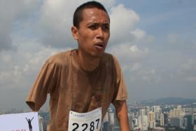 A file picture of Adam Kamis taking part in the 2008 Vertical Marathon