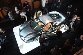 HOT CAR: The new Ferrari 488 GTB on display.