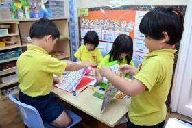File photo of children at the Agape Little Uni childcare centre in Jurong.