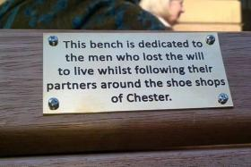 Prankster put up 'amusing' plaques in protest to the council's plans to introduce a Public Space Protection Order.