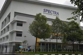 MISHAP: The Spectra Secondary School student fell from the fourth storey at the Woodlands school.
