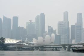 The haze in Singapore in early October, 2015.