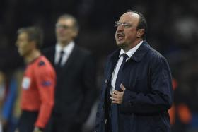 """""""I am more interested in the performance of the team and, despite the injuries, we saw a great real Madrid."""" - Real coach Rafa Benitez (above), who oversaw a third goalless draw this season"""