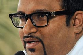 A file picture of Maldives Tourism Minister Ahmed Adeeb from Nov 11, 2013, during a press conference in Male