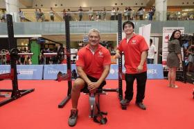 MEDAL HOPES: Kalai Vanen (left) and Melvyn Yeo (right) are the only two members in the Republic's powerlifting squad at the Asean Para Games from Dec 3-9.