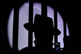 A Black Hat logo shines from the stage  at a major cyber security conference in Las Vegas in Aug. We detailed a list of young hackers who made a name for themselves for their cyber security attacks.