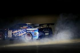 MODIFIED: The R/C cars have been modified by adding a backfire exhaust system that allows exhaust flames to appear when the car is on full throttle, and a burnout smoke system (above) giving it a realistic look when it is drifting.