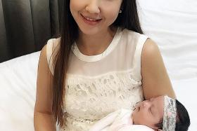 PROUD MUM: Ms Kim Marie Martin, 38, gave birth to her daughter Natalie five weeks ago.