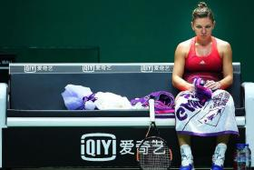 My coach was telling me many things, but I couldn't hear because I was done and I was very nervous. — Simona Halep (above), on losing to Agnieszka Radwanska.