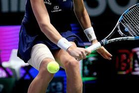 TOP POLE: Agnieszka Radwanska (above) on her way to beating Petra Kvitova 6-2, 4-6, 6-3 in yesterday's final.