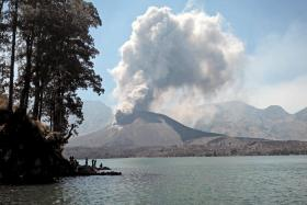 Indonesia closed Bali airport until Nov 5 when Mount Rinjani on the island of Lombok erupted and started spewing volcanic ash since the weekend.