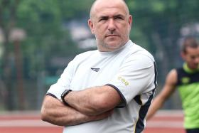 """""""It's good that both us are doing well and, hopefully, one of us will be lifting the trophy at the end of the season."""" - Balestier Khalsa coach Marko Kraljevic (above) on him and Sundram"""