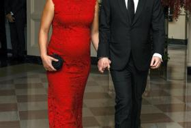 Mark Zuckerberg, CEO of Facebook, and his wife Priscilla Chan at the White House in Washington on Sept 25.