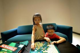 SMART: Mensa members George, six, and his sister Genevieve, four.