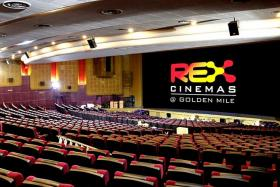 GOLD CLASS: The new $1.5 million cinema boasts a 980-seat hall and 20 VIP seats (above), which are covered in gold fabric, with tickets costing $80 a pair.