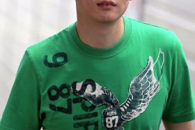 JAILED: Sean Chew Jun Yang was sentenced to 36 months' jail.