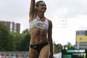 BIG BLOW: Pole vaulter Yelena Isinbayeva (below) might not get the chance to make a comeback at next year's Rio Olympics if the IAAF ban on Russia is not lifted by then.