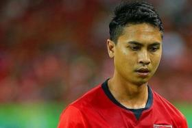 STILL SHARP: Shahril Ishak (above) insists that playing in the second-tier Malaysian Premier League has not dulled his abilities.