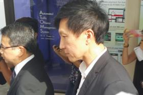 Kong Hee arriving at court to give his oral submission