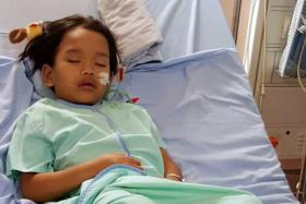 CHANGED: Syahriz Matin Abdul Halim, who can't swim, almost drowned in a pool at a family gathering on Oct 11.