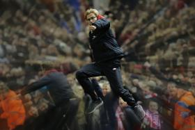 Liverpool manager Juergen Klopp celebrates