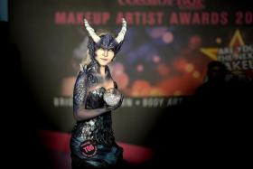 FAR OUT: Some of the outlandish creations (above) by the over 50 participants in this year's Cosmoprof Makeup Artist Award competition - the highest so far in the competition's 29 years.