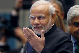 Narendra Modi is in Singapore for a two-day visit where he will meet Singapore Prime Minister Lee Hsien Loong.