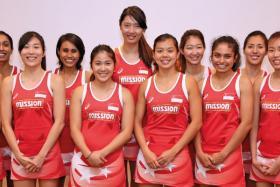 From left: Micky Lin (captain), Premila Hirubalan, Ang Shiqi, Nurul Baizura (vice-captain), Kimberly Lim, Chen Li Li, Kwok Shuyi, Charmaine Soh (vice-captain), Parveen Nair, Yasmin Ho, Pamela Liew, Toh Wan Ling