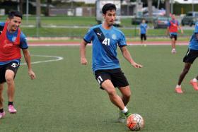 Pahang training at Serangoon Stadium