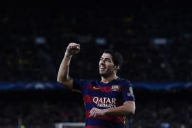 """""""I would have liked for Luis to be there too because he deserved it for the year he had, but we can't also take away credit from Cristiano..."""" - Lionel Messi on Luis Suarez (above) missing out on the final three-man list for the Ballon d'Or"""