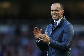 At the moment, we can only hope to get a good draw — and when I say a good draw, if you can play the second game at home, that's always what you hope for in a draw. and then we need to be as good as we can be in the semi-final. — Everton boss Roberto Martinez (above)