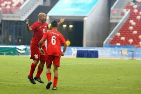 There isn't really any word to describe how this feels, playing at home in front of this crowd, scoring the goal to win the first game of the event… It's just fantastic. — Singapore captain Khairul Anwar (No. 10)