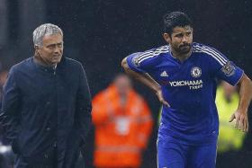 LEAVING?: There has been speculation surrounding the Chelsea future of both Jose Mourinho (left) and Diego Costa.