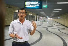 TURNAROUND: LTA principal engineering officer Teo Beng Sai says the residents and eatery owners around Beauty World station used to view him as an enemy, but now they are friends.