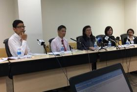 The Independent Review Committee for the hepatitis C outbreak at Singapore General Hospital delivers its findings at a press conference.