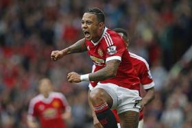 OFF THE BOIL: Man United manager Louis van Gaal will need his players like Memphis Depay (above) to regain their verve against Wolfsburg.