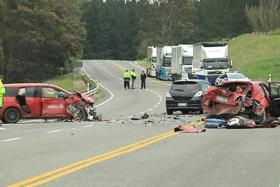 HORRIFIC: The Nov 28 accident left one motorcyclist dead and six others injured.