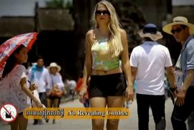 Angkor Wat Code of Conduct video to show tourists the types of behaviour that are considered unacceptable.