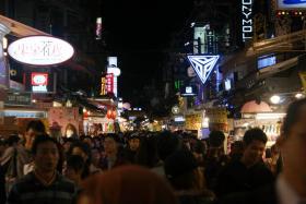 Popular shopping district Ximending.