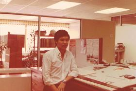 LONG ASSOCIATION: (Above) A young Mark Yan, who was in the URA team as a structural technician working on the construction of the mall in 1983. Now 55 and a real estate agent, he still visits the mall.