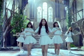 TIRED: The members of Oh My Girl, seen here in a music video, were held for 15 hours.