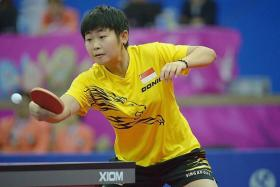TEEN TERROR: Singapore's teen paddler Lin Ye (above) won the World Tour U-21 girls' title by beating Japan's Yui Hamamoto 4-2 yesterday.